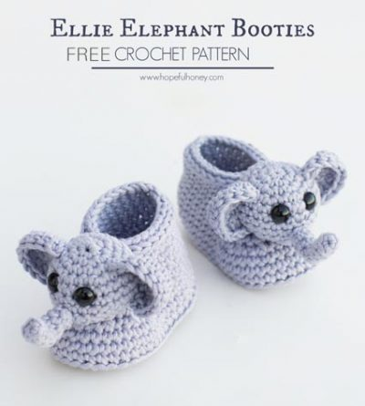 Free Crochet Pattern Elephant Booties