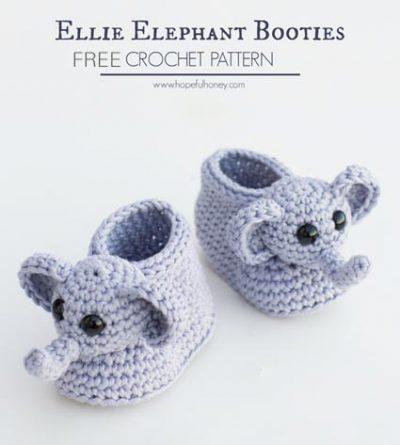 Free Crochet Pattern Elephant Booties
