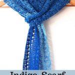 Free Crochet Pattern Indigo Scarf