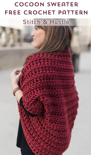 Free Crochet Pattern Juno Cocoon Shrug