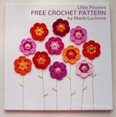 Free Crochet Pattern Little Flowers