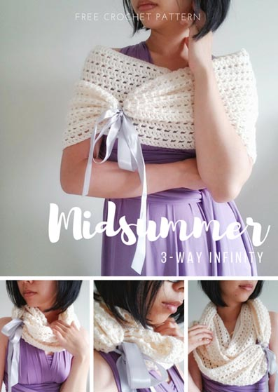 Free Crochet Pattern Midsummer Infinity Scarf
