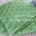 Free Crochet Pattern Rabbit Tracks Blanket