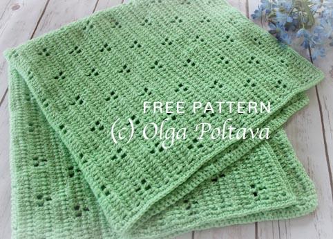 Free Crochet Pattern Rabbit Tracks Blanket