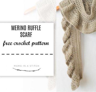 Free Crochet Pattern Ruffle Scarf