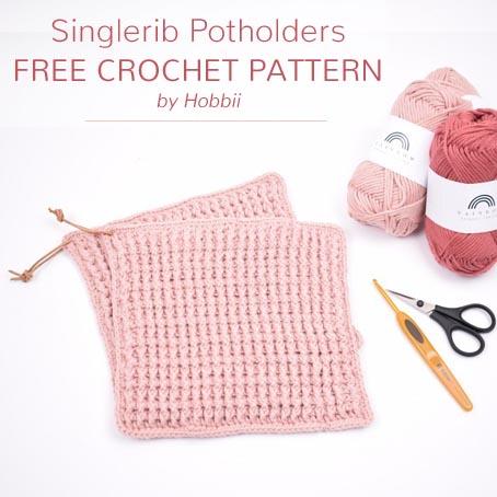Free Crochet Pattern Singlerib Potholders