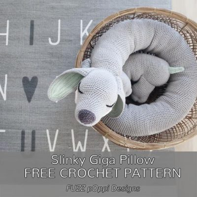 Free Crochet Pattern Slinky Giga Pillow