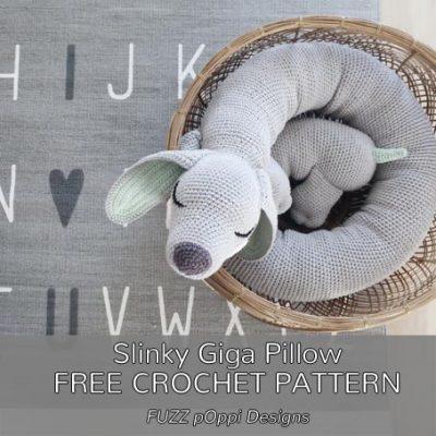 Free Crochet Pattern Slinky Giga Pillow