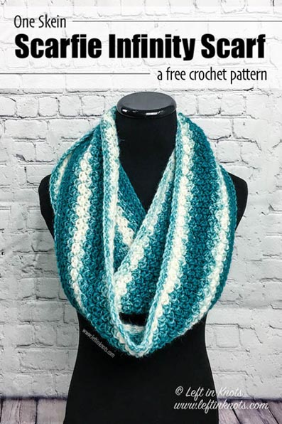 Free Crochet Pattern Snowball Infinity Scarf