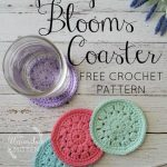 Free Crochet Pattern Spring Blooms Coaster