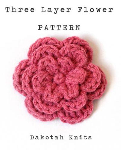 Free Crochet Pattern Three Layer Flower
