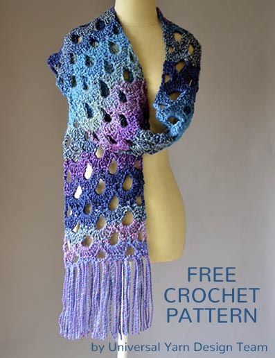 Free Crochet Pattern Zeppelin Scarf