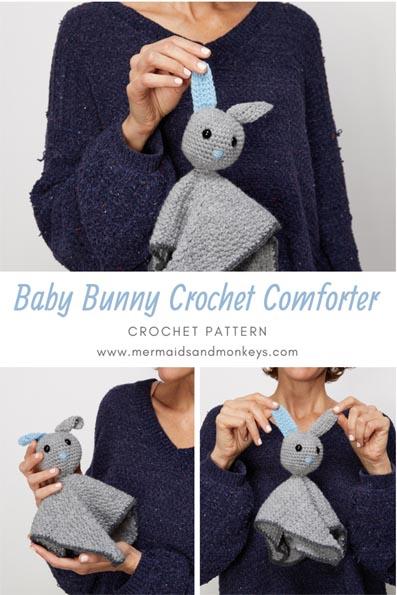 Free Crochet Pattern Baby Bunny Comforter