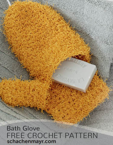 Free Crochet Pattern Bath Glove