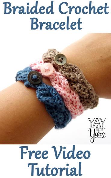 Free Crochet Pattern Braided Bracelet