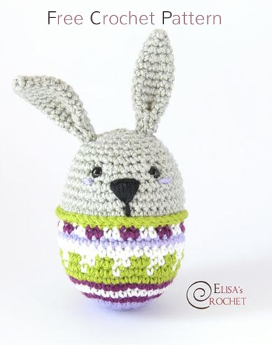 Free Crochet Pattern Bunny Egg