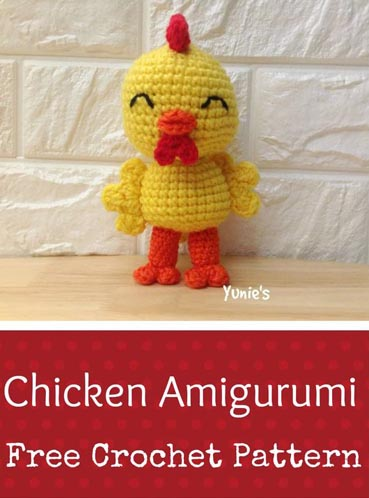 Free Crochet Pattern Chicken Amigurumi