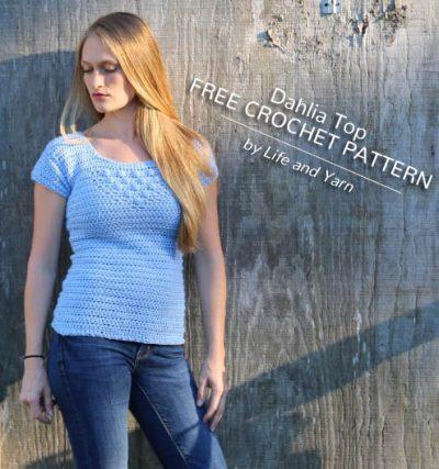 Free Crochet Pattern Dahlia Top