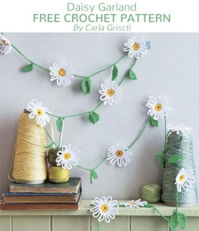 Free Crochet Pattern Daisy Garland