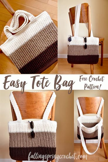 Free Crochet Pattern Easy Tote Bag