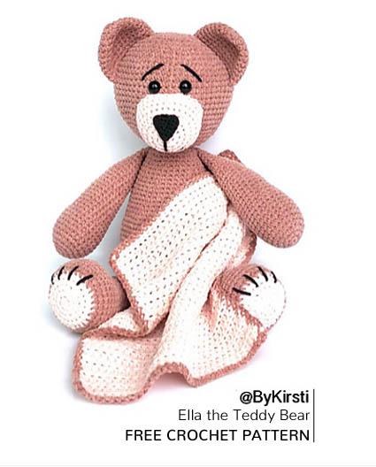 Free Crochet Pattern Ella the Teddy Bear