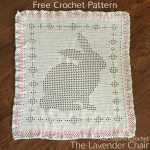 Free Crochet Pattern Filet Bunny Blanket