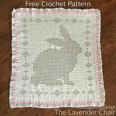 Free Crochet Pattern Filet Bunny Blanket