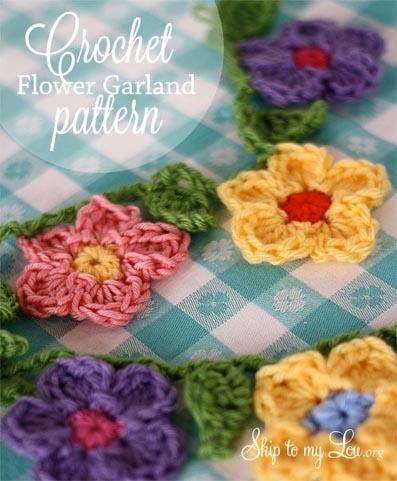 Free Crochet Pattern Flower Garland