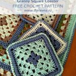 Free Crochet Pattern Granny Square Coaster