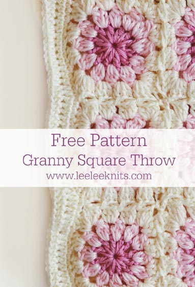 Free Crochet Pattern Granny Square Throw