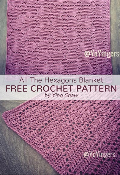 Free Crochet Pattern Hexagons Blanket