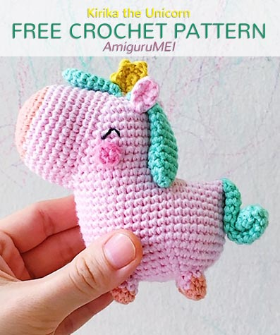 Free Crochet Pattern Kirika the Unicorn