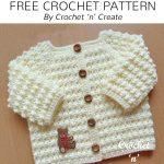 Free Crochet Pattern Knobbly Baby Cardigan