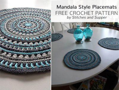 Free Crochet Pattern Mandala Style Placemats