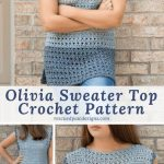 Free Crochet Pattern Olivia Sweater Top