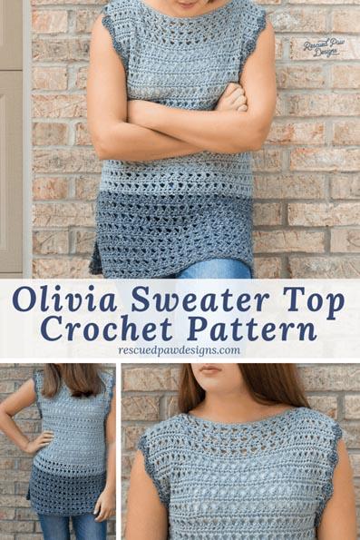 Free Crochet Pattern Olivia Sweater Top