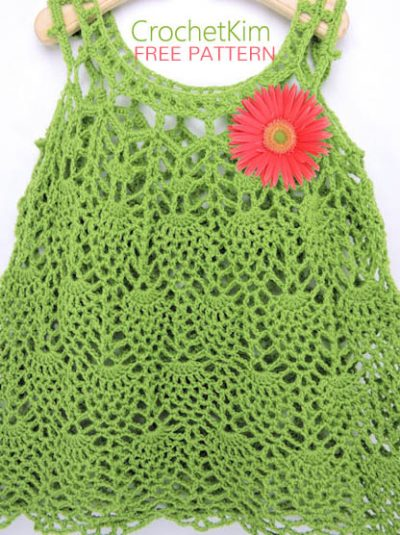 Free Crochet Pattern Pineapple Baby Dress