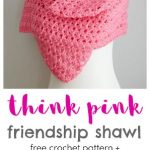 Free Crochet Pattern Pink Friendship Shawl