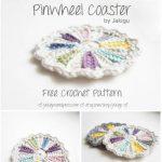 Free Crochet Pattern Pinwheel Coaster