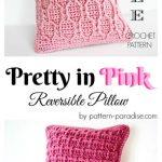 Free Crochet Pattern Pretty in Pink Pillow