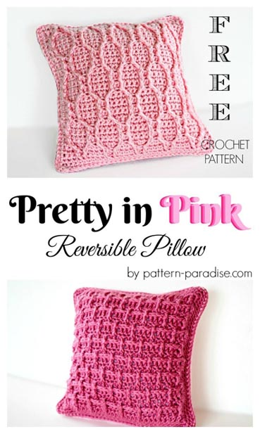 Free Crochet Pattern Pretty in Pink Pillow