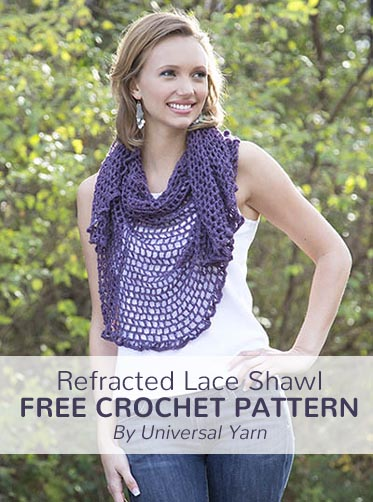Free Crochet Pattern Refracted Lace Shawl