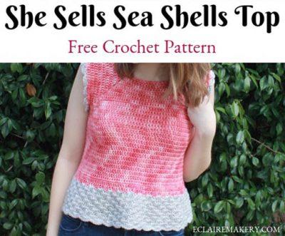 Free Crochet Pattern Sea Shells Top