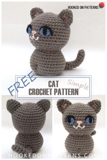 Free Crochet Pattern Simple Cat Amigurumi