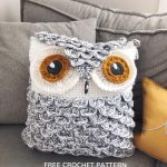 Free Crochet Pattern Snowy Owl Pillow