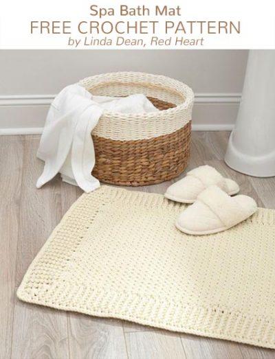 Free Crochet Pattern Spa Bath Mat
