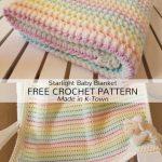 Free Crochet Pattern Starlight Baby Blanket