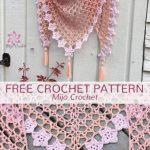 Free Crochet Pattern Tea Flower Shawl