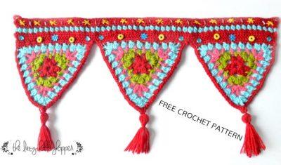 Free Crochet Pattern Triangle Wall Hanging