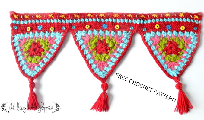 Free Crochet Pattern Triangle Wall Hanging